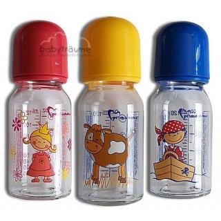 Primamma Glasflasche, Milchsauger (0-7 M.), ----- schmale Flasche ------- Sauger aus Silikon