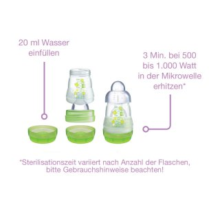 MAM Anti-Colic, Tee/Muttermilch, 0+ Monate, 260ml, inkl. Flaschensauger, Silikon