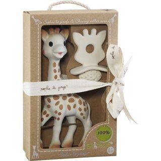 """""""Sophie la girafe + Beißring"""" - die Giraffe Sophie im Set mit einem Schnuller-Beißring, beides: Naturkautschuk"""