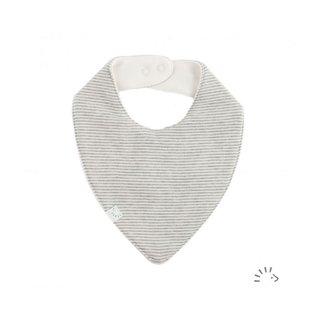 """Halstuch """"grau/natur - mit Durchnässungsschutz"""", außen 100% Baumwolle (kbA)"""