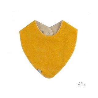 """Halstuch """"gelber Frottee - mit Durchnässungsschutz"""""""